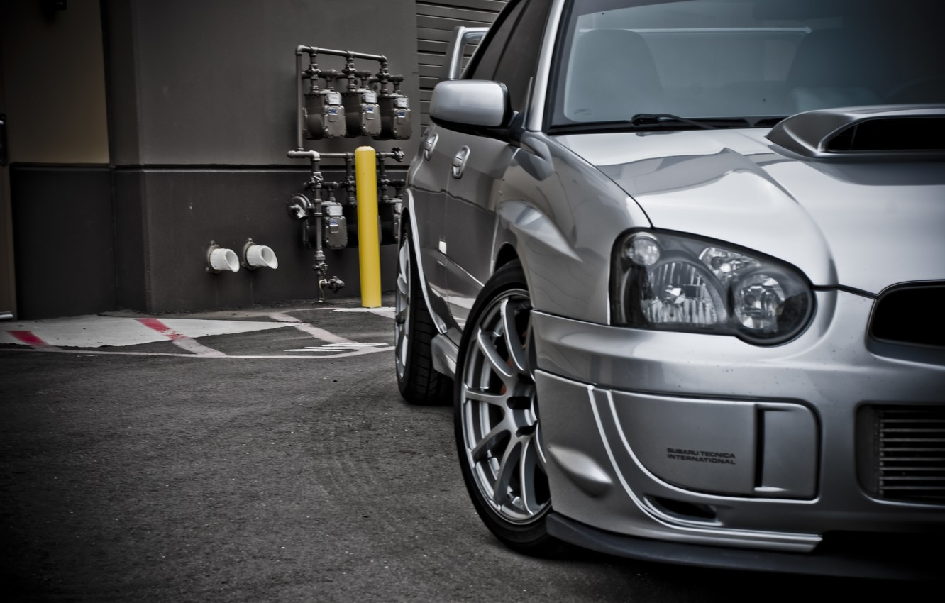 Photo wallpaper subaru, impreza, sti