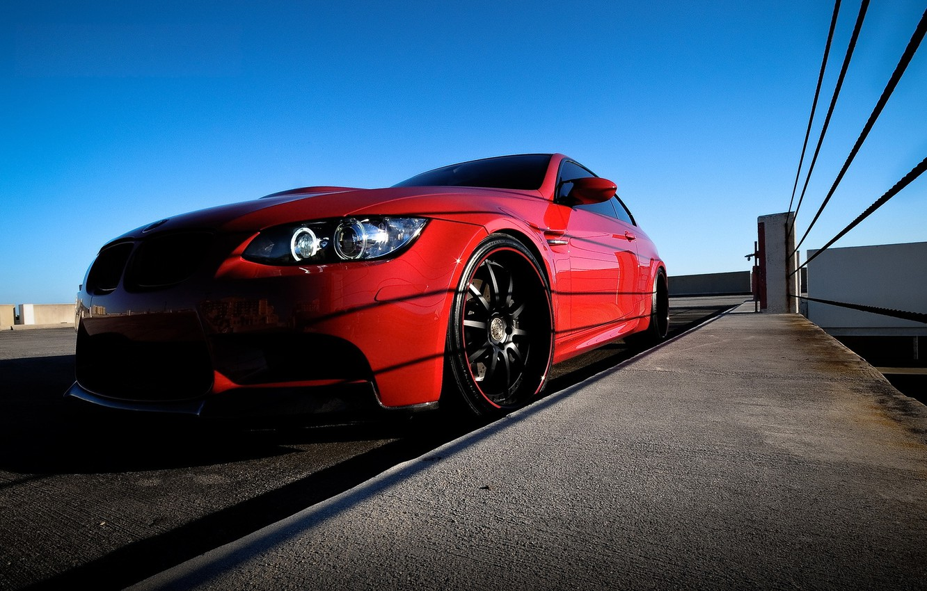 Photo wallpaper tuning, bmw, BMW, coupe, headlight, red, 3 series