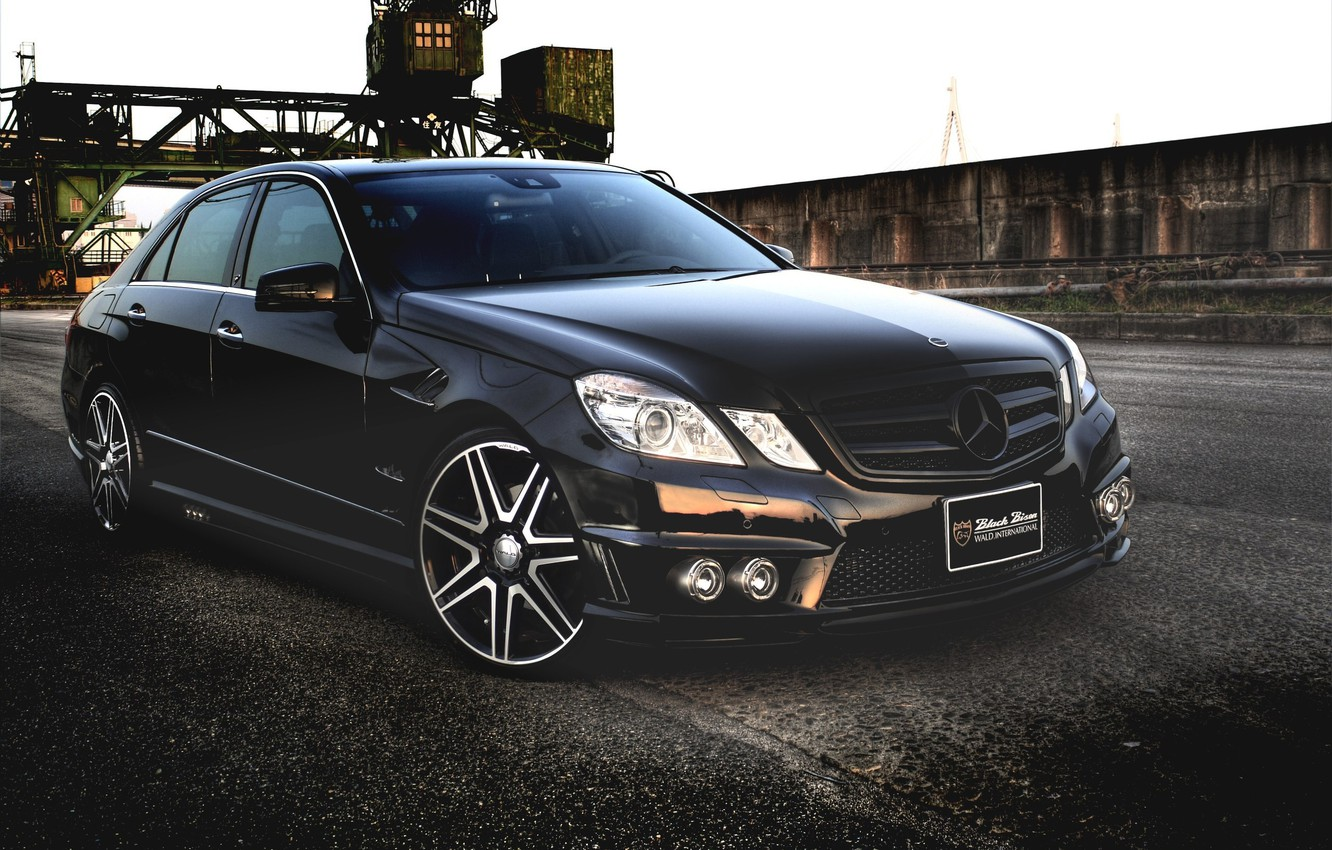 Photo wallpaper Black, Tuning, Mercedes, Mercedes, Benz, Car, Car, Black, WALD, Line, Wallpapers, Tuning, Sport, Beautiful, Wallpaper, …
