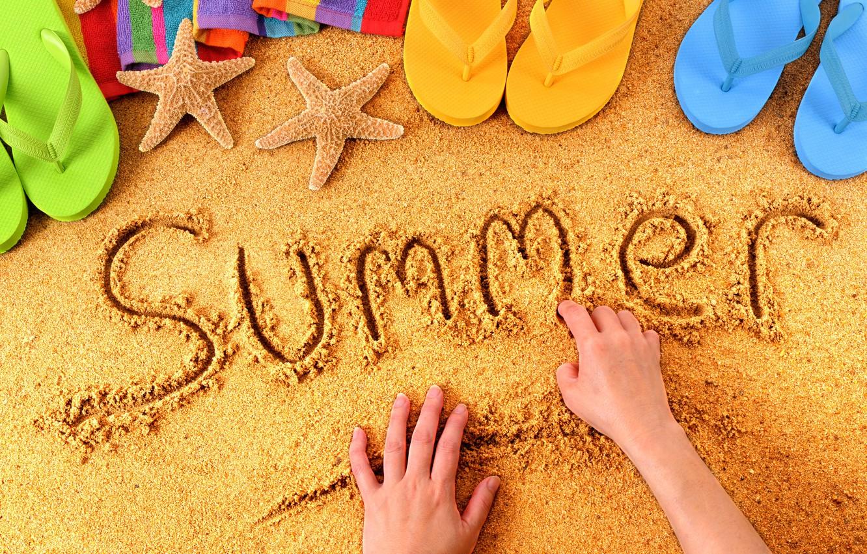 Photo wallpaper summer, beach, sand