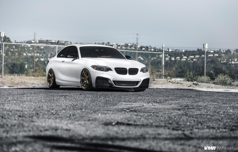 Photo wallpaper car, BMW, Coupe, 2 Series, Alpine White