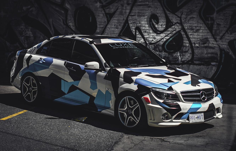 Photo wallpaper Mercedes, AMG, C63, Motorsports, Luxe