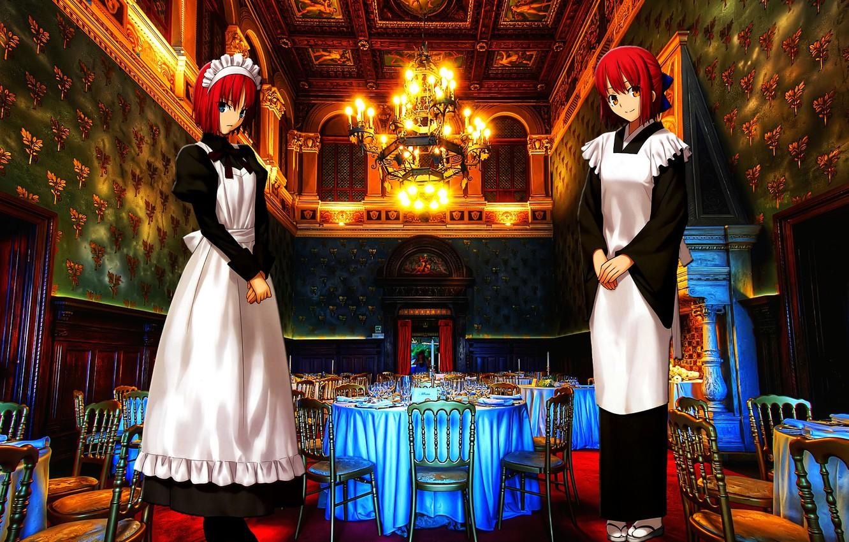 Photo wallpaper Anime, Girls, Game, Type-Moon, Tsukihime, Visual Novel, Hisui, Kohaku