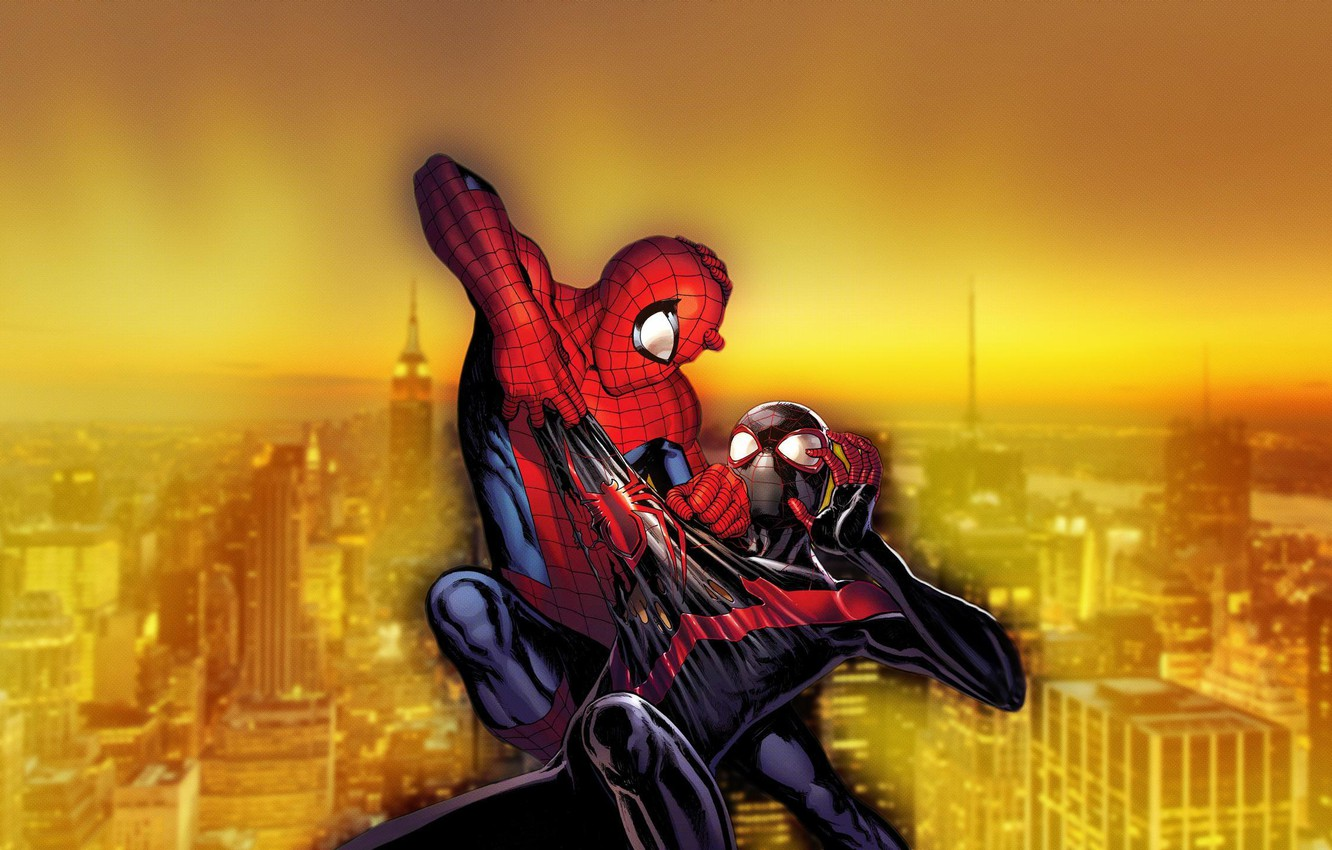 Wallpaper City New York Fight Spider Man Ultimate Spider Man