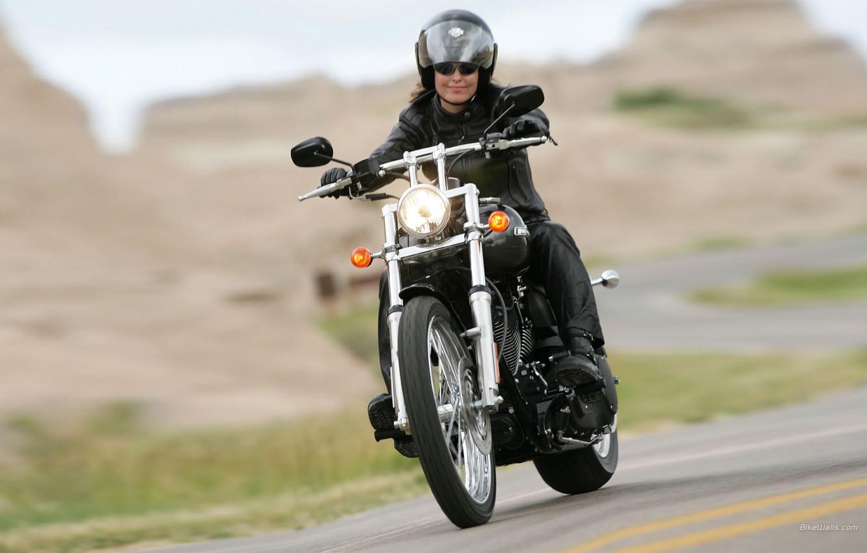 Photo wallpaper girl, rides, smiling