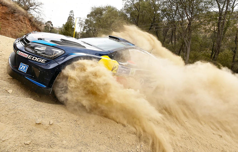 Photo wallpaper Dust, Volkswagen, WRC, Rally, Polo