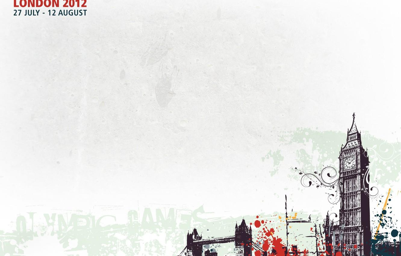Photo wallpaper squirt, city, paint, London, bus, big Ben, Olympic games, londonб UK