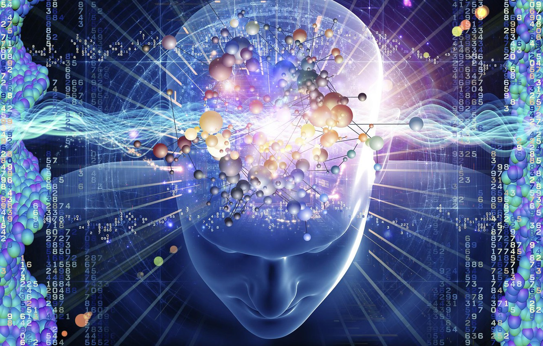 Photo wallpaper Figures, Brain, Matrix, Inspiration, Mind