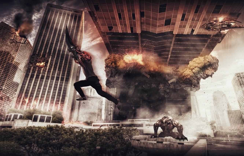 Photo wallpaper Apocalypse, destruction, games, Alexander Malkin, prototype 2
