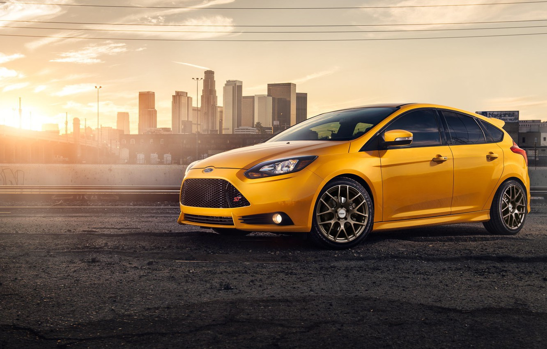 Photo wallpaper yellow, Ford, Focus, Ford, yellow, Dejan Sokolovski