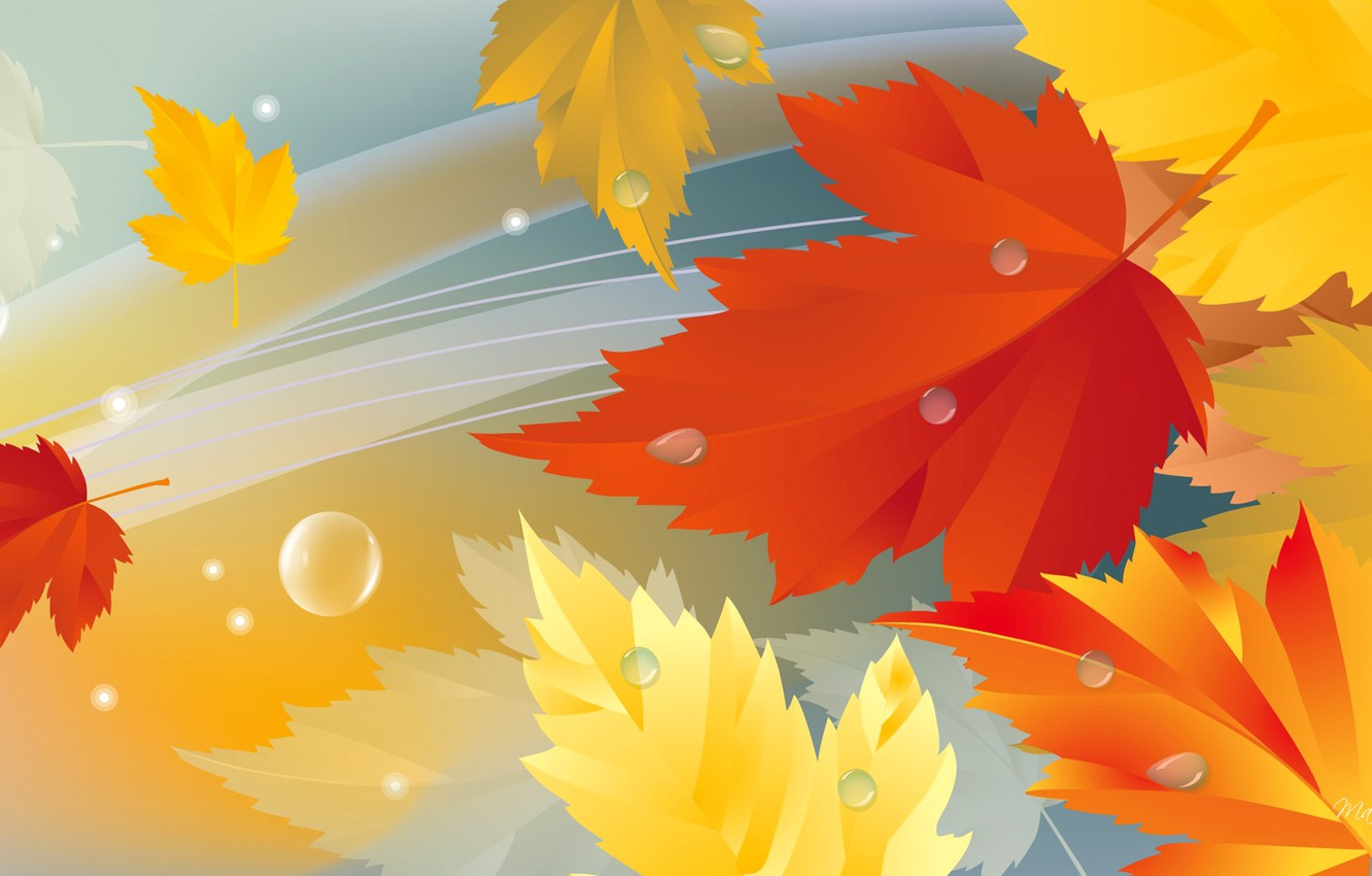 Photo wallpaper autumn, leaves, nature, collage