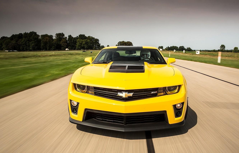 Photo wallpaper Top Gear, Yellow, Chevrolet Camaro ZL1