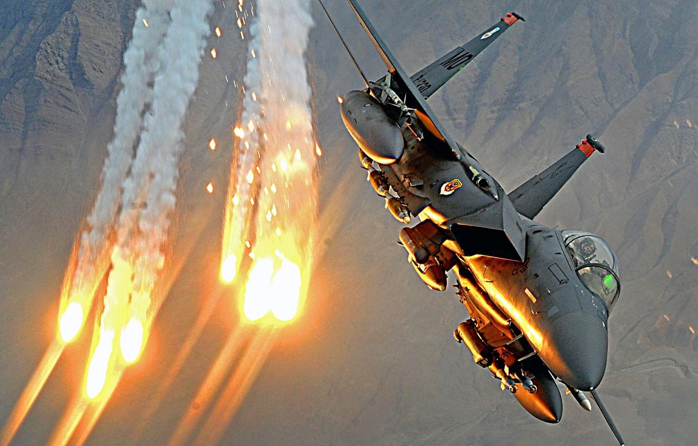 Photo wallpaper the plane, Airstrike, airstrike
