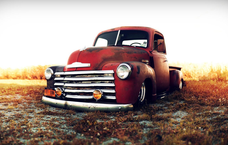 Photo wallpaper Chevrolet, Cars, Classic, Trucks, Custom, 1949, Stance Works, Lowriders