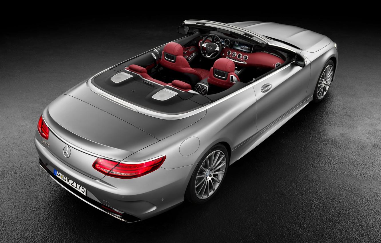 Photo wallpaper Mercedes-Benz, convertible, salon, Mercedes, AMG, S 63, S-Class, 2015, A217