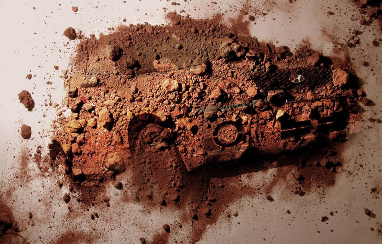Photo wallpaper auto, Dust, dirt