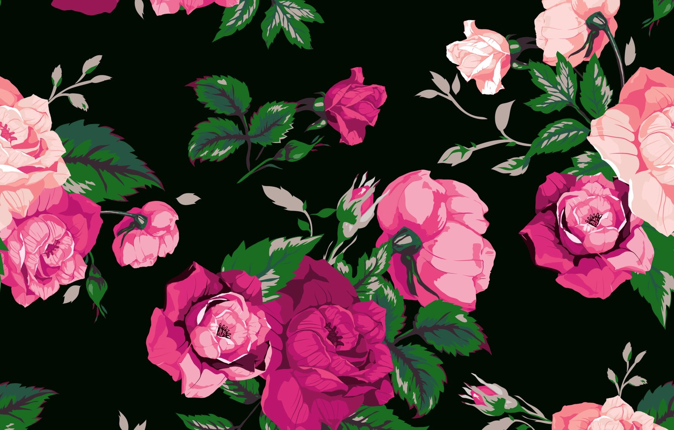 Wallpaper Flowers Background Roses Texture Rose Print