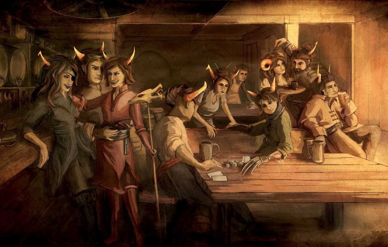 Photo wallpaper Beta, tavern, Homestuck, Alpha, Trolls