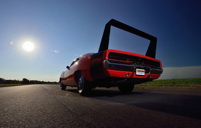Photo wallpaper background, Dodge, 1969, Dodge, Muscle car, wing, Muscle car, Hemi, Daytona, Daytona