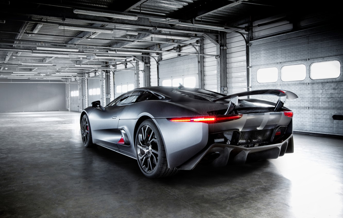 Photo wallpaper machine, Jaguar, supercar, Hybrid, back, C-X75, Supercar Prototype