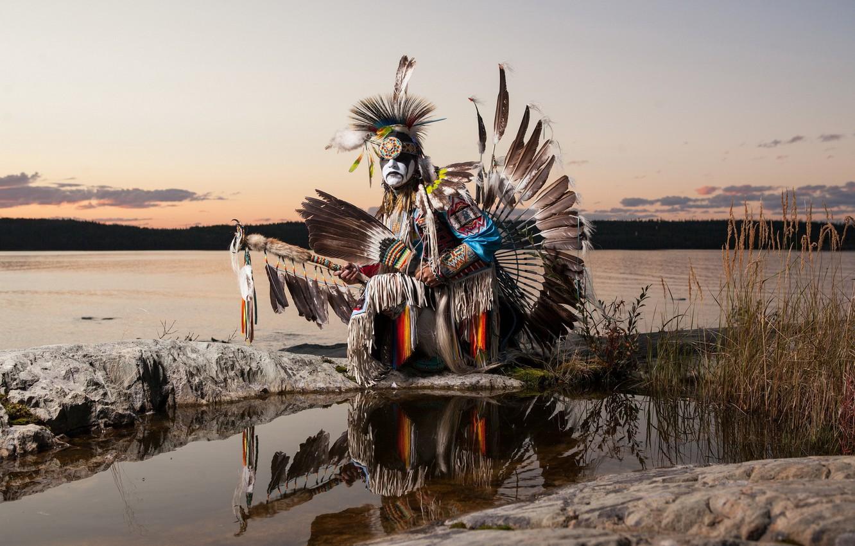 Photo wallpaper dancer, native, indian, aboriginal
