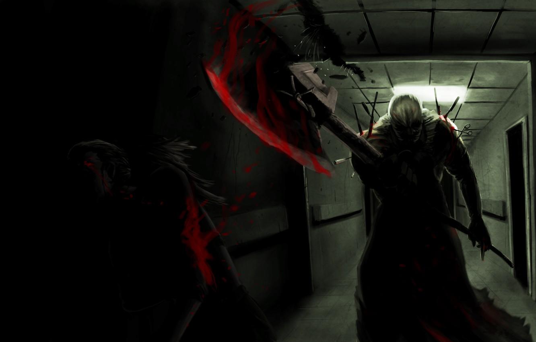 Photo wallpaper danger, blood, art, survivor horror, executioner, the executioner, resident evil Afterlife