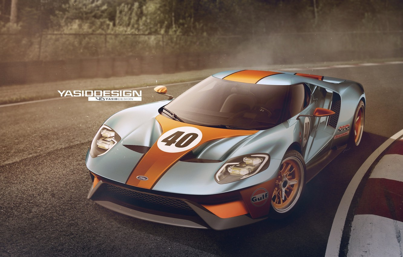 Photo wallpaper Concept, Ford, Car, Race, Track, 2017, Yasid Design