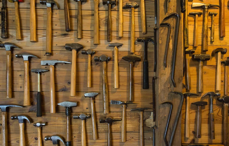 Photo wallpaper hammer, instrumento, workshop, the dog