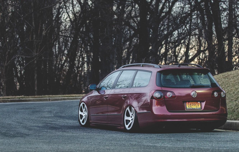 Photo wallpaper Volkswagen, Stance, Passat, Dapper, Variant