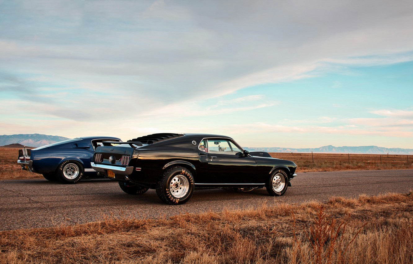 Photo wallpaper mustang, ford, muscle car, lunchbox photoworks, drag race