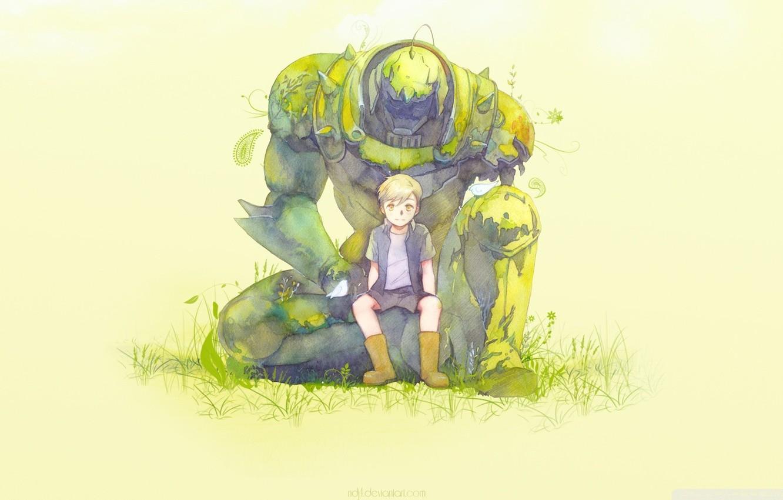Photo wallpaper manga, Edward, manga, Fullmetal Alchemist, Alphonse