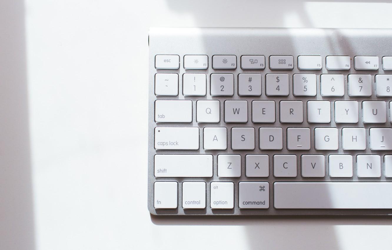 Photo wallpaper letters, button, white, keyboard