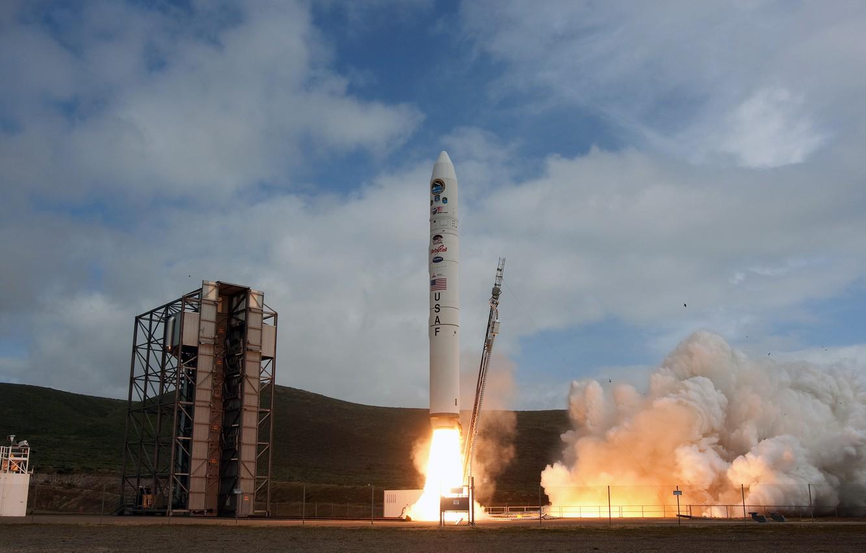 Photo wallpaper rocket, start, start, Spaceport
