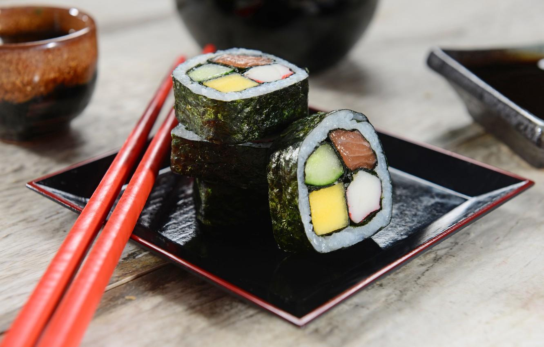 Photo wallpaper sticks, rolls, sushi, sushi, rolls, filling, Japanese cuisine, sticks, Japanese cuisine, stuffing