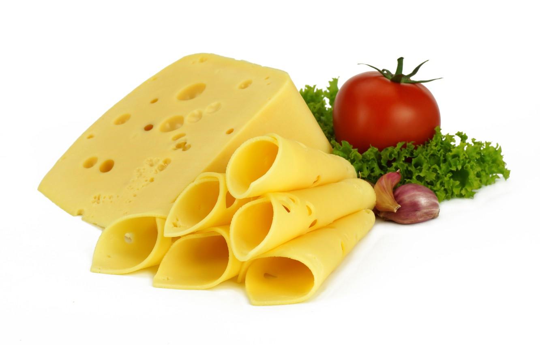 Photo wallpaper greens, cheese, tomato, garlic