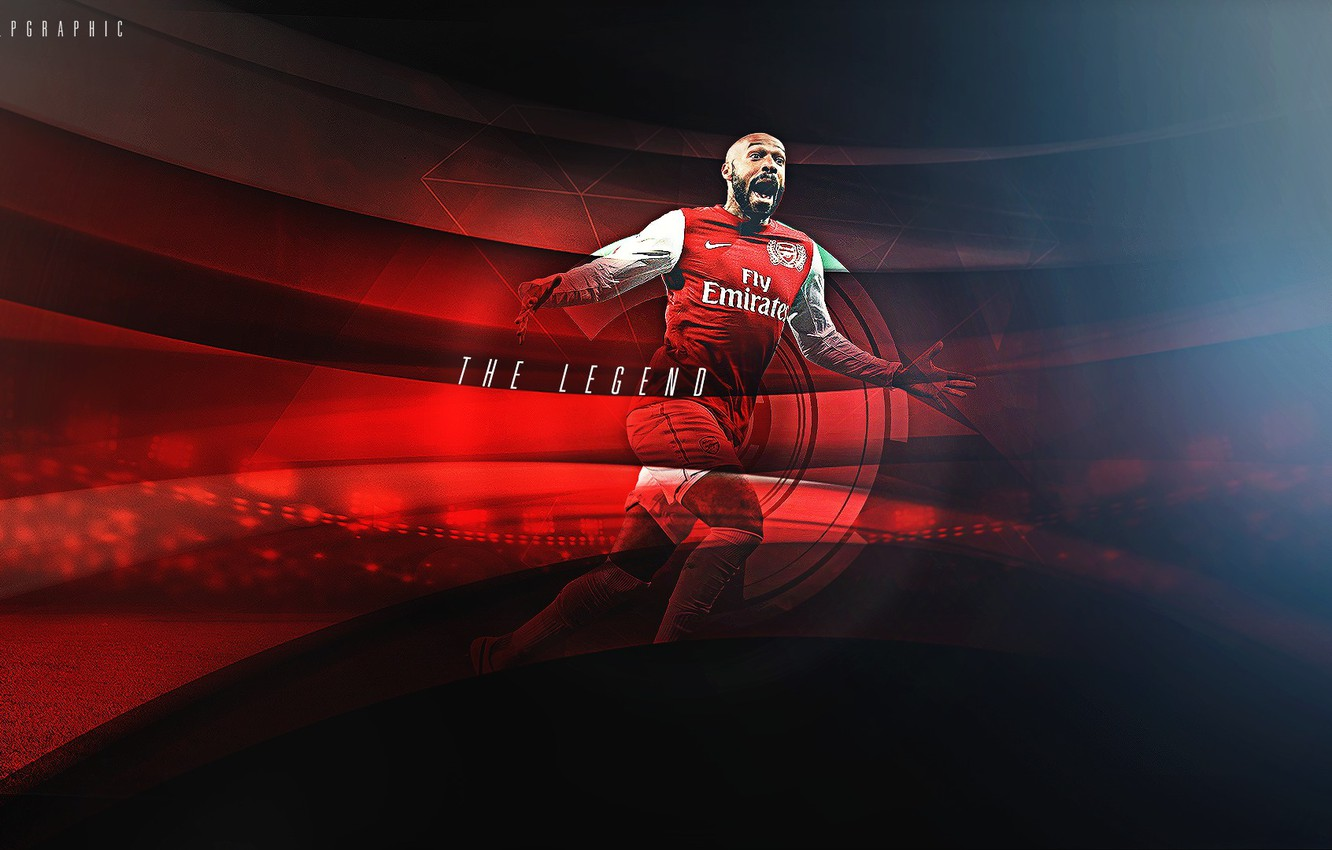 Photo wallpaper attack, victory, player, Arsenal, center, goal, football, Arsenal, Thierry Henry, The gunners, Henri, goals, Forward