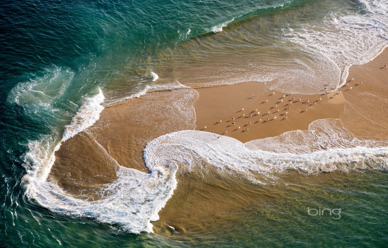 Photo wallpaper sea, beach, wave