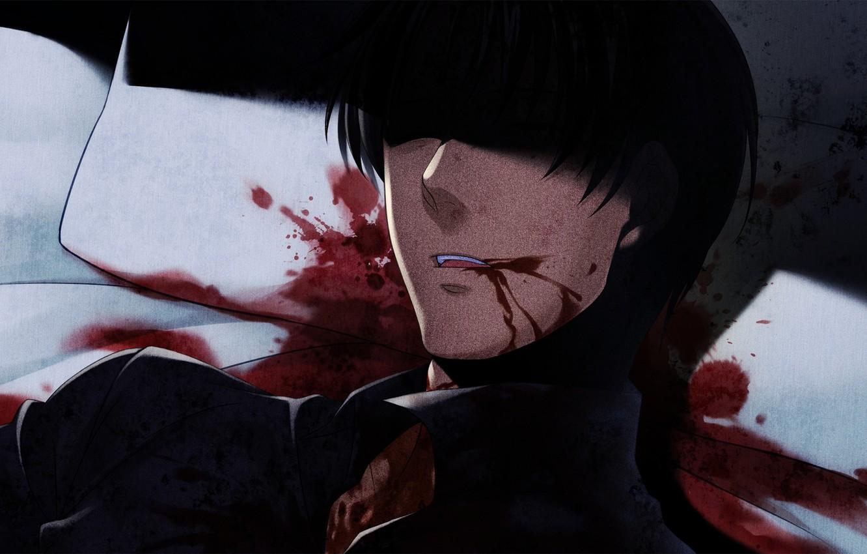 Photo wallpaper death, blood, the victim, murder, spot, When the seagulls cry, George Ushiromiya, Umineko no naku …