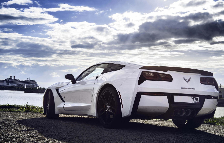 wallpaper corvette chevrolet car white sport stingray