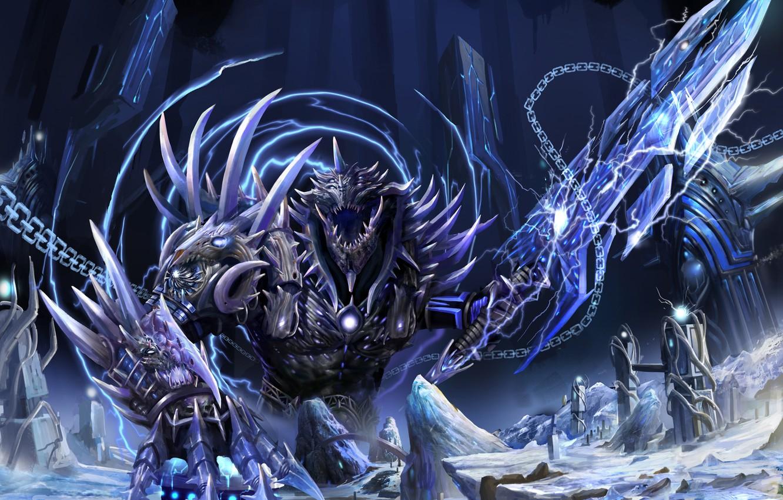 Wallpaper Snow Monster Sword Art Tower Chain The Return Of