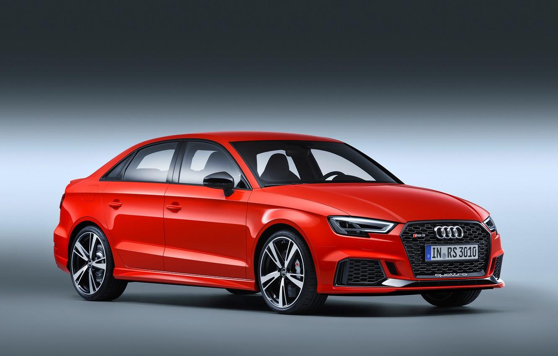 Photo wallpaper Audi, Audi, sports car, sedan, RS 3