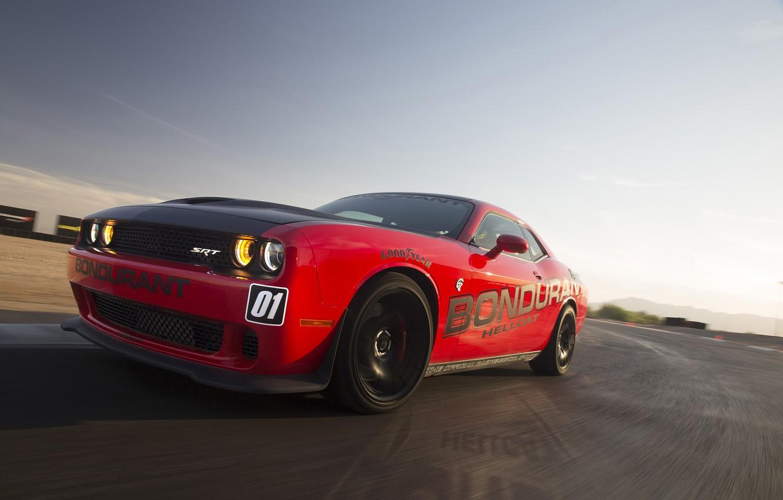 Photo wallpaper Dodge, Challenger, Dodge, Hellcat, Challenger, SRT