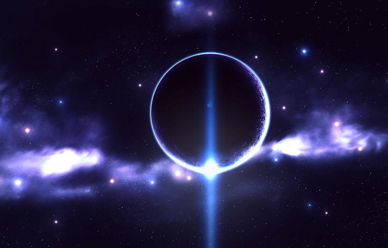 Photo wallpaper stars, planet, glow, nebula