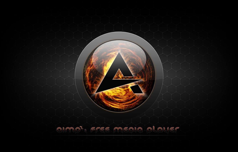 Photo wallpaper music, player, icon, logo, Logo, player, AIMP3, AIMP, AIMP