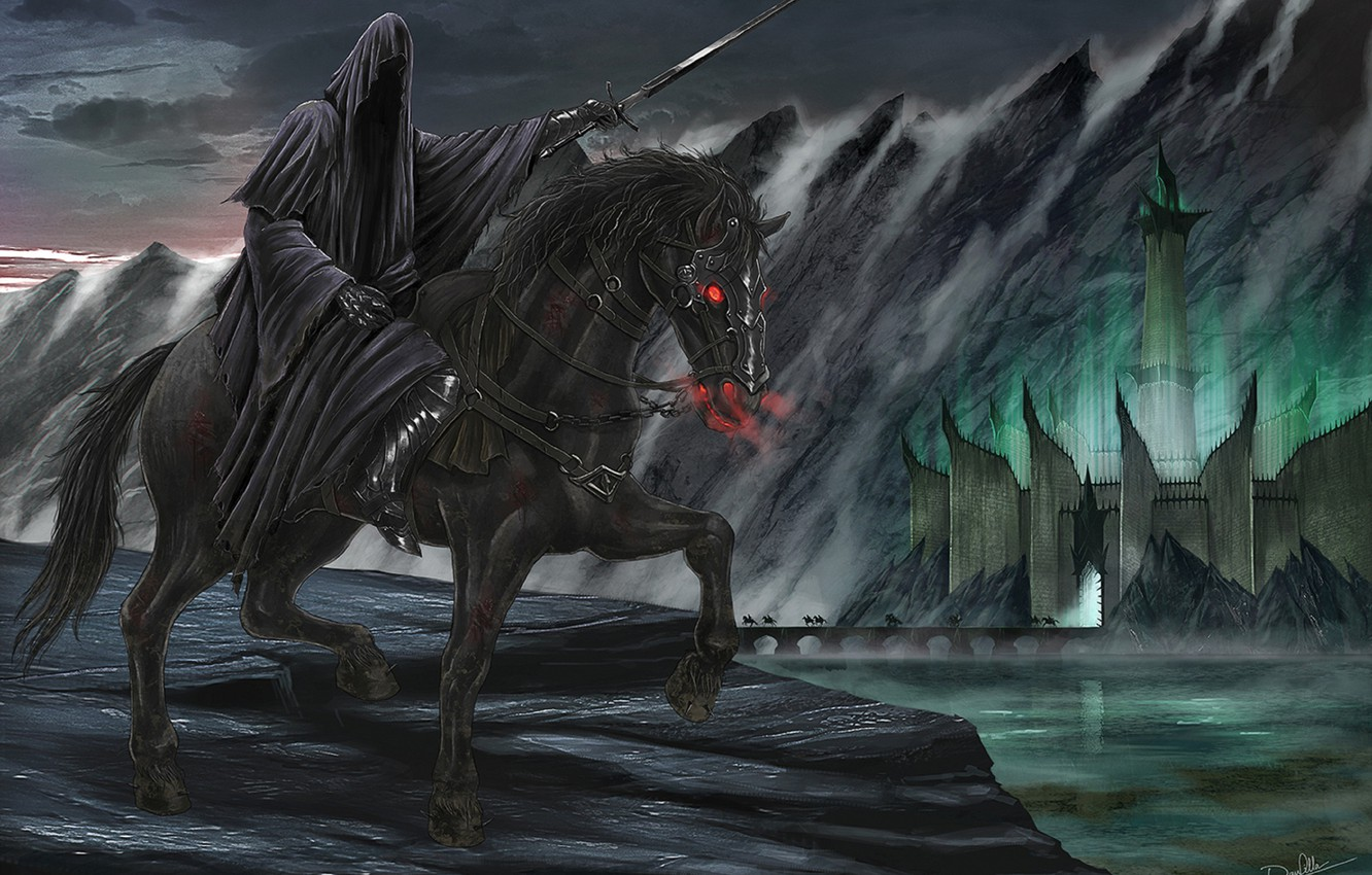 Wallpaper Figure The Lord Of The Rings Nazgul The Black Rider
