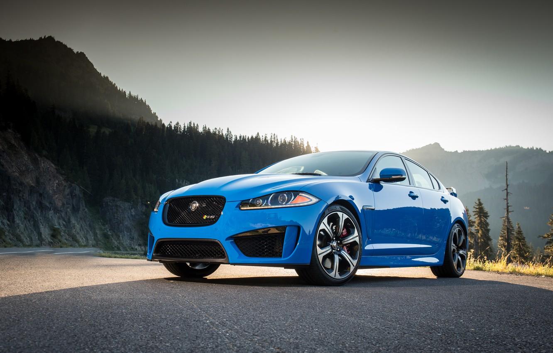 Photo wallpaper Jaguar, Blue, XFR-S