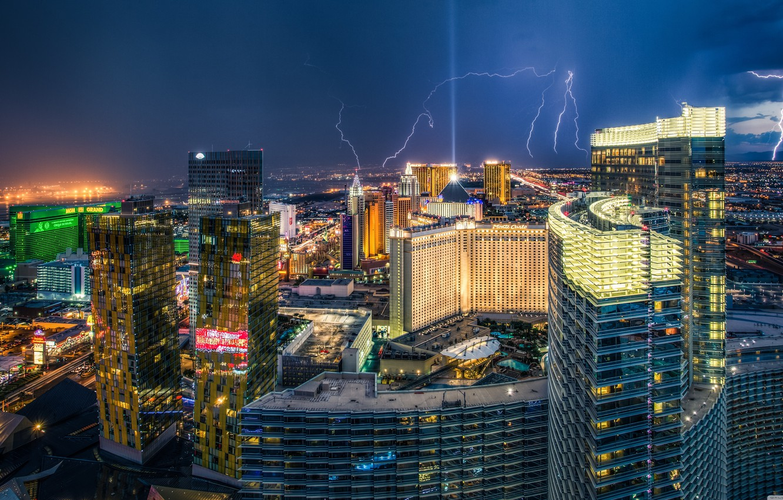 Wallpaper The Storm The City America Las Vegas Images For Desktop Section Gorod Download