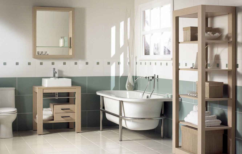 Photo wallpaper design, style, room, interior, bathroom