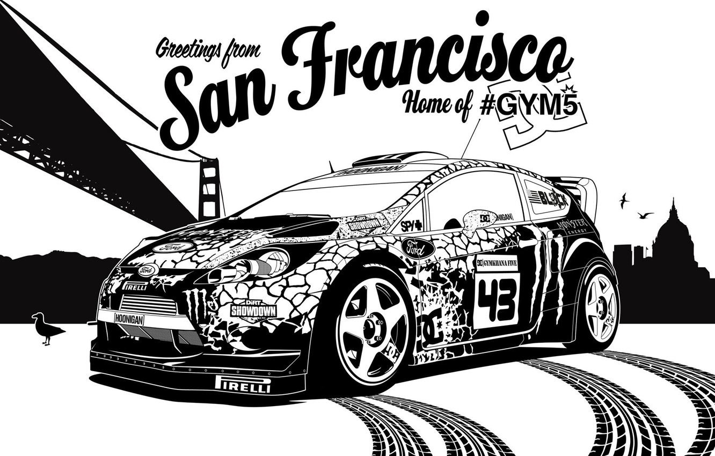 Photo wallpaper ford, rally, rally, wrc, San Francisco, fiesta, Ken Block, Ken Block, gymkhana5