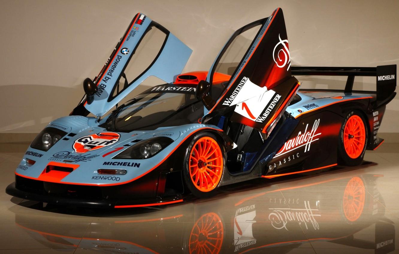 Photo wallpaper reflection, background, McLaren, door, GTR, supercar, the front, racing car, hypercar, McLaren, GTR, Longtail